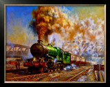 Express departing from Paddington station Framed Giclee Print by Alan Fearnley