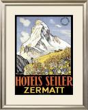 Hotel Seiler Matterhorn Framed Giclee Print by  Gachons