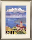 Swiss Spiez Framed Giclee Print
