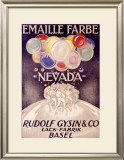 Emaille Farbe Nevada Framed Giclee Print by Burkhard Mangold