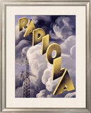 Radiola RKO Radio Station Framed Giclee Print by Max Ponty