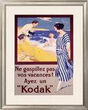 Kodak, Ne Gaspillez Pas Framed Giclee Print by Rene Lelong