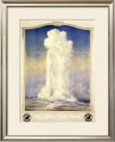 Northern Pacific Railroad, Yellowstone Framed Giclee Print by Edward Brener