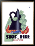 Stop Fire Framed Giclee Print by Charles Loupot