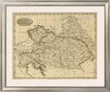 Austrian Dominions, c.1812 Framed Giclee Print by Aaron Arrowsmith