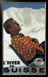 L'Hiver en Suisse Framed Giclee Print by Erich Hermes