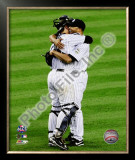 Jorge Posada &amp; Mariano Rivera Game Six of the 2009 ALCS Framed Photographic Print