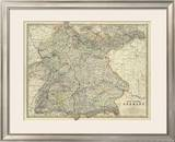 Southwestern Germany, c.1861 Framed Giclee Print by Alexander Keith Johnston