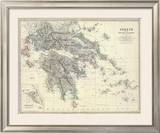 Greece, c.1861 Framed Giclee Print by Alexander Keith Johnston