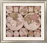 Atlas Major World Map Art by  Dutch