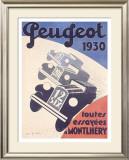 Peugeot Framed Giclee Print by A. N. Girard