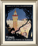 Tunis Framed Giclee Print by Roger Broders