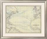 North Atlantic Ocean, c.1861 Framed Giclee Print by Alexander Keith Johnston