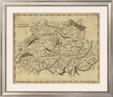 Switzerland, c.1812 Framed Giclee Print by Aaron Arrowsmith