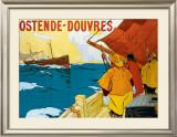 Ostende Douvres Framed Giclee Print by H. Lassié