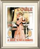 L'Ovale Framed Giclee Print by Henri Gray