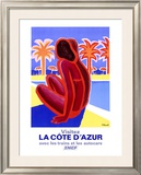 La Cote d'Azur Framed Giclee Print by Bernard Villemot