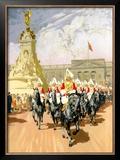 Visit London, British Rail Framed Giclee Print by Gordon Nicoll
