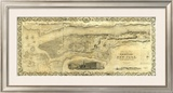 City and County of New York, c.1836 Framed Giclee Print by J. H. Colton