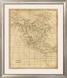 North America, c.1812 Framed Giclee Print by Aaron Arrowsmith