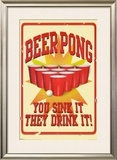 Beer Pong Prints