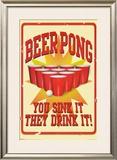 Beer Pong Prints