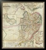 Plan of Boston Comprising a Part of Charlestown and Cambridge, c.1846 Framed Giclee Print by George G. Smith