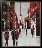 City Scene III Posters by Elena Radzetska