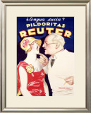 Reuter Framed Giclee Print by Achille Luciano Mauzan