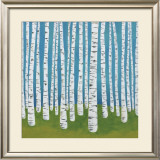 Birch Grove Art by Lisa Congdon