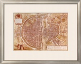 Map of Paris 1585 Prints by Georges Braun