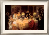 The Dinner Party Prints by Jules-Alexandre Grün