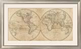 The World, c.1825 Framed Giclee Print by Mathew Carey