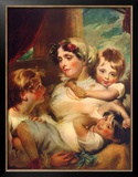 Mrs. Weddel and Children Posters by George Henry Harlow