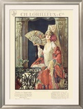Flamenco Dancer in Exposition Poster Framed Giclee Print