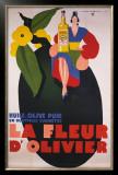 La Fleur d'Olivier Framed Giclee Print by Jean Mercier