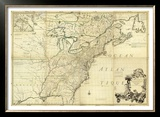 Amerique Septentrionale, c.1756 Framed Giclee Print by John Mitchell