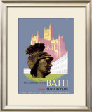 The Historic City of Bath, BR (WR) Poster, 1958 Framed Giclee Print by E Lander