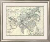 Asia, c.1861 Framed Giclee Print by Alexander Keith Johnston