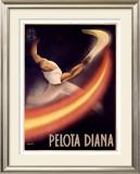 Pelota Diana Framed Giclee Print by  Mancioli