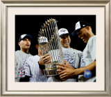 Andy Pettitte, Jorge Posada, Derek Jeter, & Mariano Rivera Game Six of the 2009 MLB World Series Framed Photographic Print
