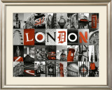 Mosaïque London Posters by Jean-jacques Bernier