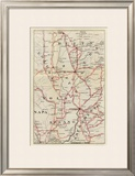 California: Colusa, Yolo, Napa, Butte, Yuba, Sutter, Solano, and Sacramento Counties, c.1896 Framed Giclee Print by George W. Blum