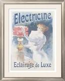 Electricine Framed Giclee Print by Lucien Lefevre