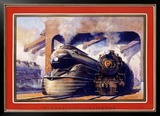 Pennsylvania Railroad, Steam Locomotive Framed Giclee Print by Grif Teller