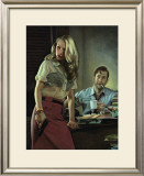 Detective Greg Pouring Framed Giclee Print by Richie Fahey