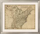 United States, c.1812 Framed Giclee Print by Aaron Arrowsmith