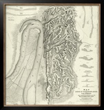 Civil War Map of The Siege of Vicksburg, Miss, c.1863 Framed Giclee Print by Charles Spangenberg