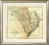 State of South Carolina, c.1795 Framed Giclee Print by Mathew Carey