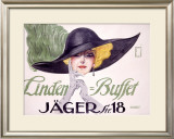 Linden Buffet Framed Giclee Print by Ernst Deutsch
